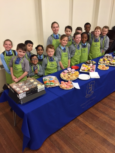 Cake sale pupils