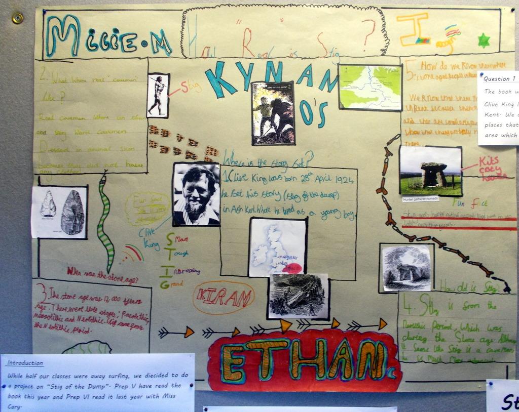 Caveman Questions : Stig of the dump project prep v & vi bridgewater school u2013