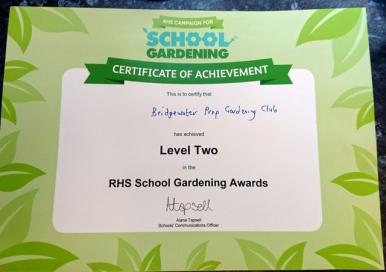 Gardening level 2 cert